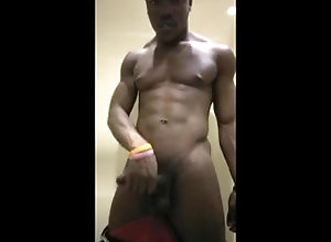 stud;daddy;muscle;hot;sexy,Black;Solo Male;Big Dick;Gay Jacking off in...