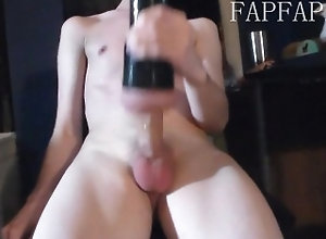 twink;gay;toy;flesh-light;young,Twink;Solo Male;Gay;Amateur Twink Uses Flesh...