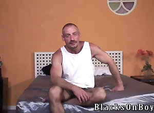 big cock,blowjob,interracial,ebony,gay,threesome Black thugs...
