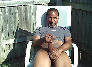 bbc;solo;outside;black-men,Solo Male;Big Dick;Gay Stroking and...