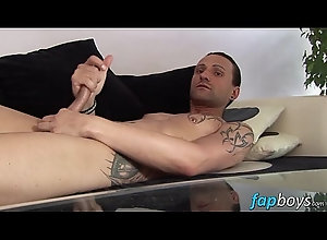 cumshot,tattoo,masturbation,piercing,solo,gay,gay Jeff Paris spends...