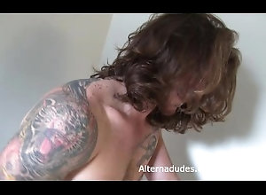alternadudes;ginger;redhead;alt;alternative;jackoff;tats;tattoos;long-hair;hunk;jock;muscles;public;armpits;pubes;pits,Solo Male;Gay;Straight Guys Tatted ginger...