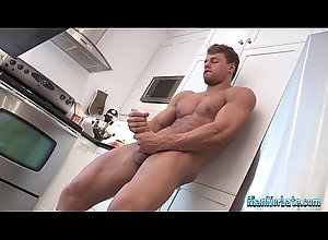 masturbation,solo,gay,straight,hunk,muscled,gay Stud strips and...